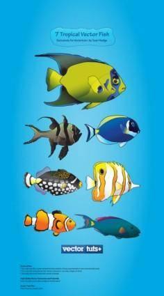 free vector Cartoon marine fish vector