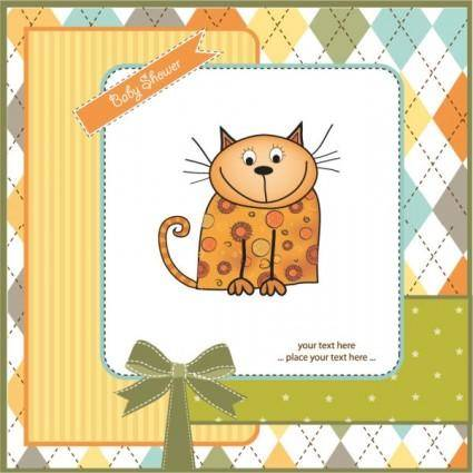 free vector Cartoon cat 02 vector