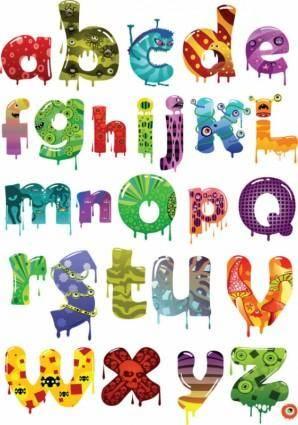 free vector Cartoon alphabet vector