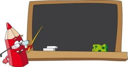 Cartoon pencil 04 vector