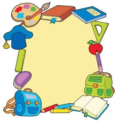 Cartoon school supplies 05 vector
