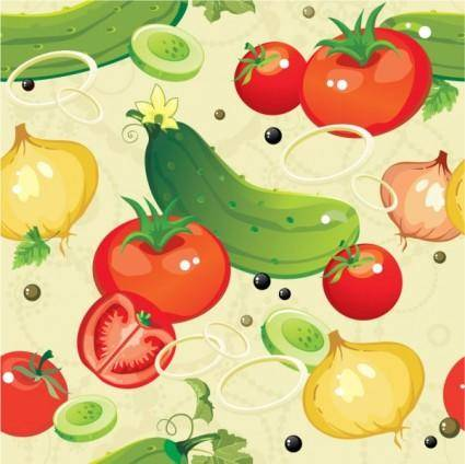 Cartoon vegetables 01 vector