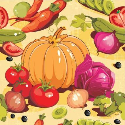free vector Cartoon vegetables 02 vector