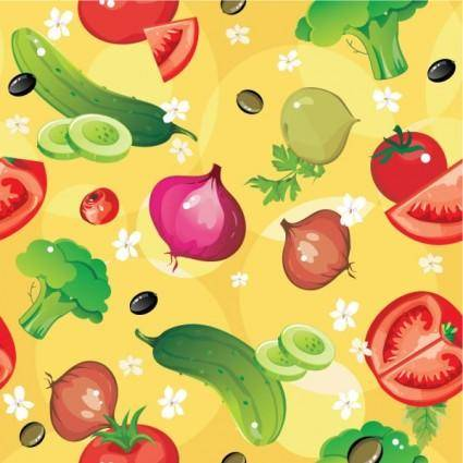Cartoon vegetables 04 vector