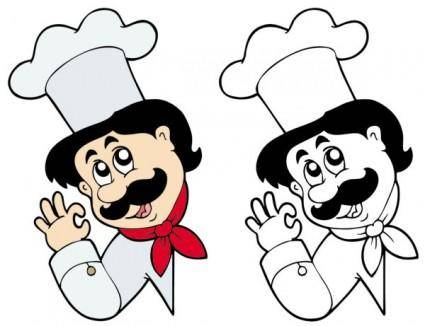 free vector Cartoon characters chef 06 vector