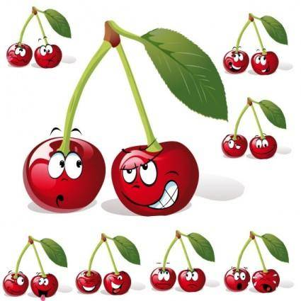 free vector Cartoon fruit expression 05 vector