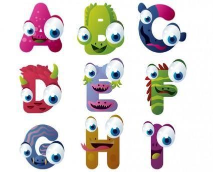 Cartoon characters 01 vector