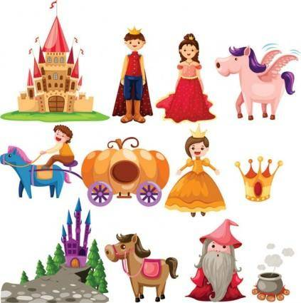 Cartoon fairytale image of 02 vector