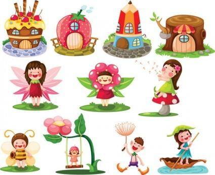 free vector Cartoon fairytale image of 03 vector