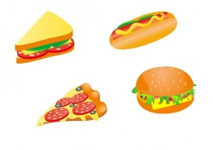 Cartoon fast food 03 vector