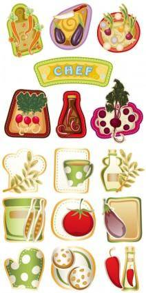free vector Exquisite cartoon vegetables vector