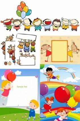 free vector Children cartoon illustration vector