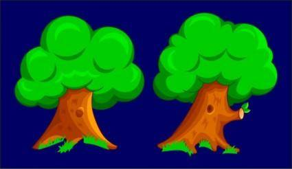 Cartoon two trees