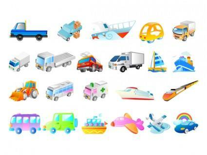 free vector Cartoon transportation vector