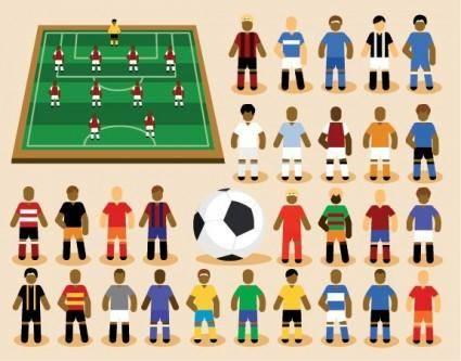free vector Cartoon soccer vector