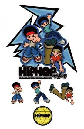 Hiphop cartoon characters vector
