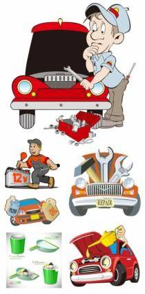 free vector Cartoon illustration vector repair