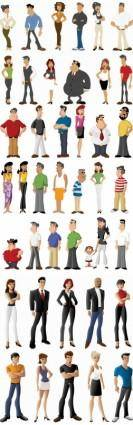 All kinds of cartoon characters vector