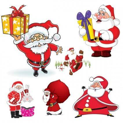 Cartoon santa claus vector 94512