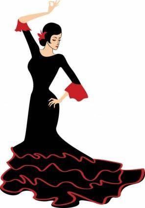 Exquisite cartoon dancer 05 vector
