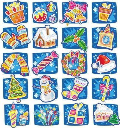free vector Handdrawn cartoon christmas vector