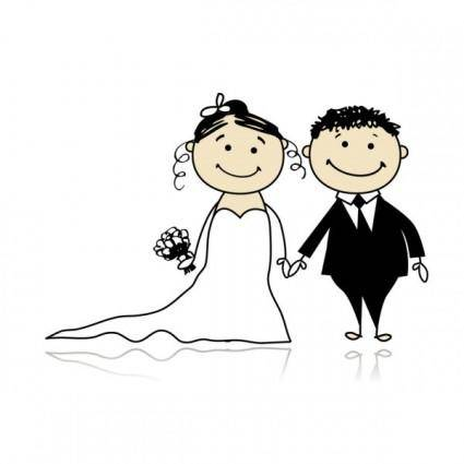 Cartoonstyle wedding elements 05 vector