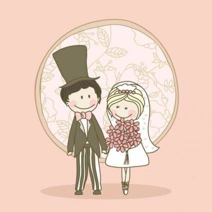 free vector Cartoonstyle wedding elements 04 vector