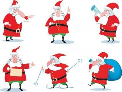 Vector cartoon santa claus