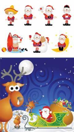Cartoon santa claus vector 94541