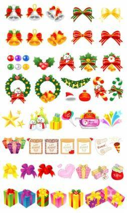 free vector Variety christmas gift cartoon vector elements and