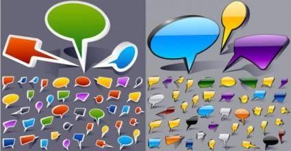 free vector Cartoonstyle dialogue bubbles vector