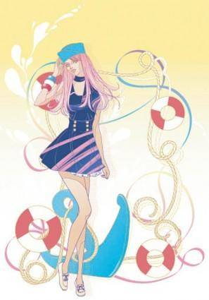 Beautiful cartoon fashion crush 07 vector