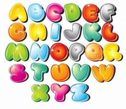 Cartoon Style Letters Vector Set