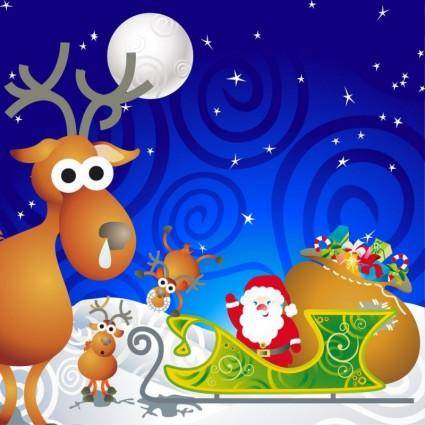 free vector Cartoon Santa Vector Illustration