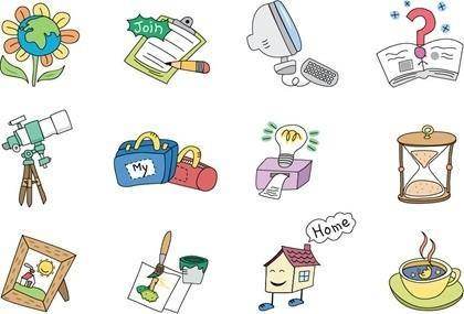 free vector Cartoon Style Vector Elements 01
