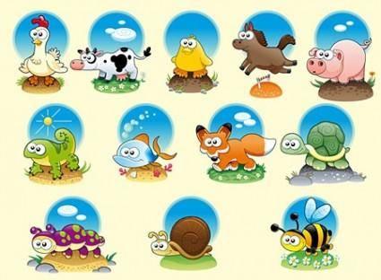 free vector Cute Cartoon Vector Animals
