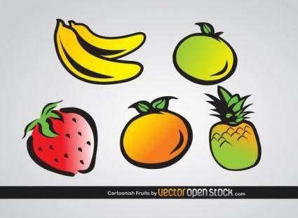 free vector Cartoonish Fruits