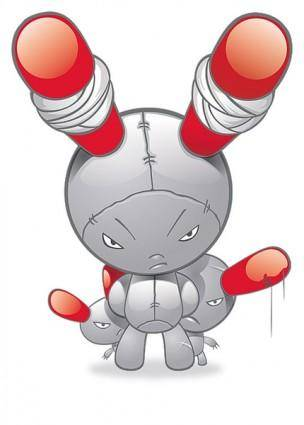 free vector Monster cartoon character