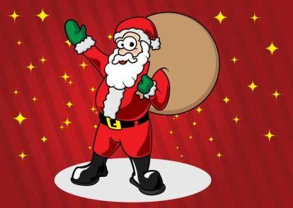 free vector Santa Claus Cartoon