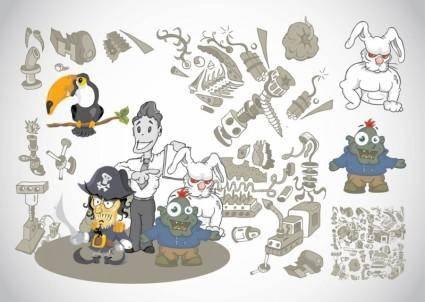 free vector Weird Cartoons
