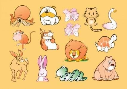 free vector Animal Cartoons