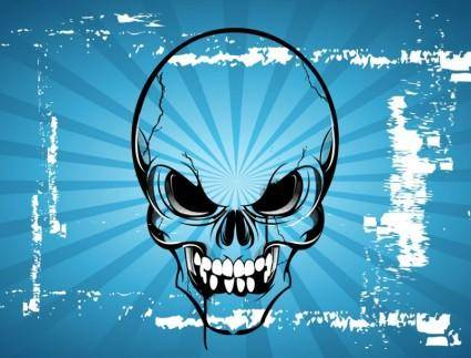 free vector Terror Skull Cartoon