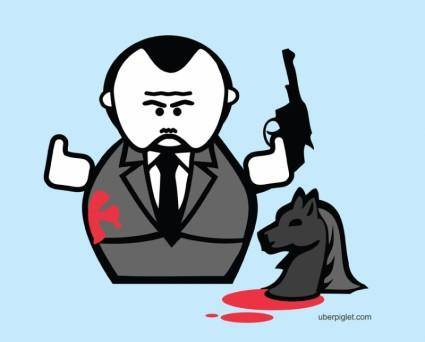 free vector The Godfather Cartoon