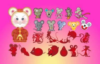 free vector Mice Cartoons