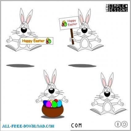 free vector Cartoon Style Easter Bunny