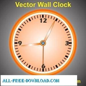 Vector Wall Clock Design