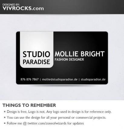 Black Bold Glossy Vector Business Card