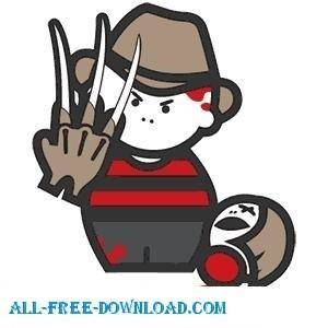 free vector Freddy Krueger Cartoon