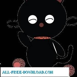 free vector Little Cat