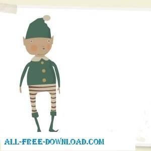 free vector Christmas Elf
